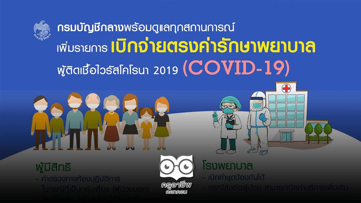 กรมบัญชีกลางเพิ่มรายการเบิกจ่ายตรงค่ารักษาพยาบาล ผู้ติดเชื้อไวรัสโคโรนา 2019 (COVID – 19)