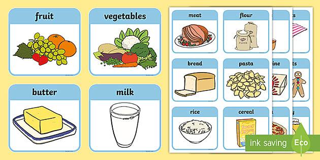 SEN Communication Cards Food