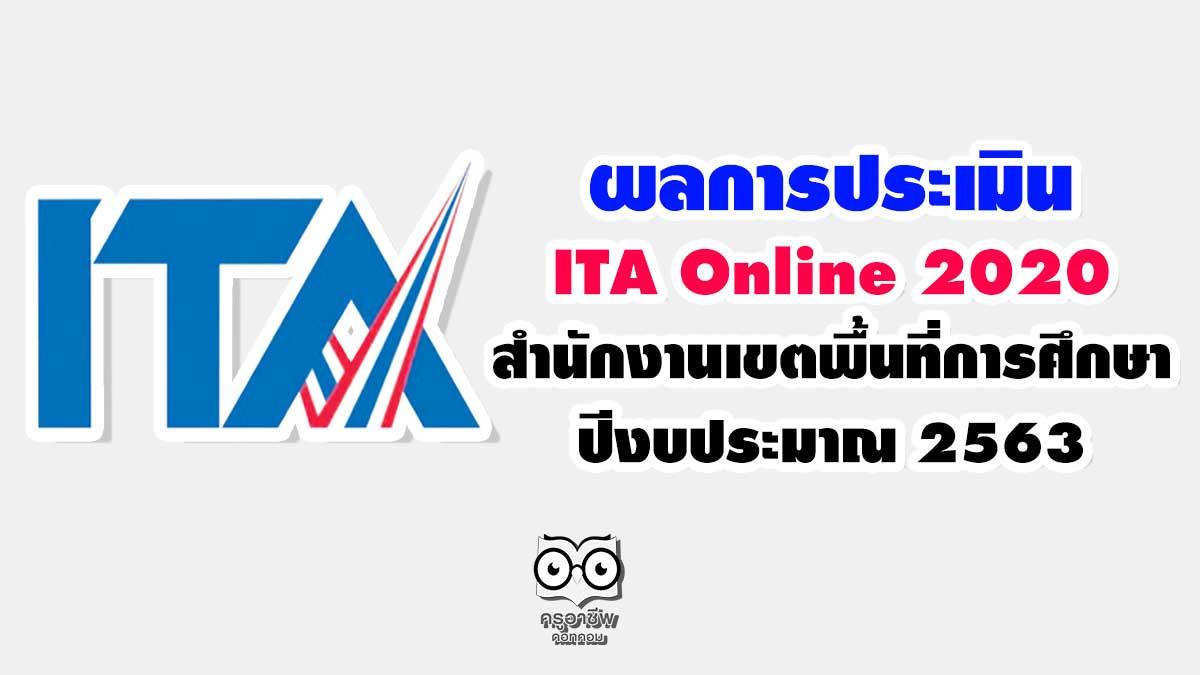 สพฐ.ประกาศผลการประเมิน ITA Online 2020 ของสำนักงานเขตพื้นที่การศึกษา