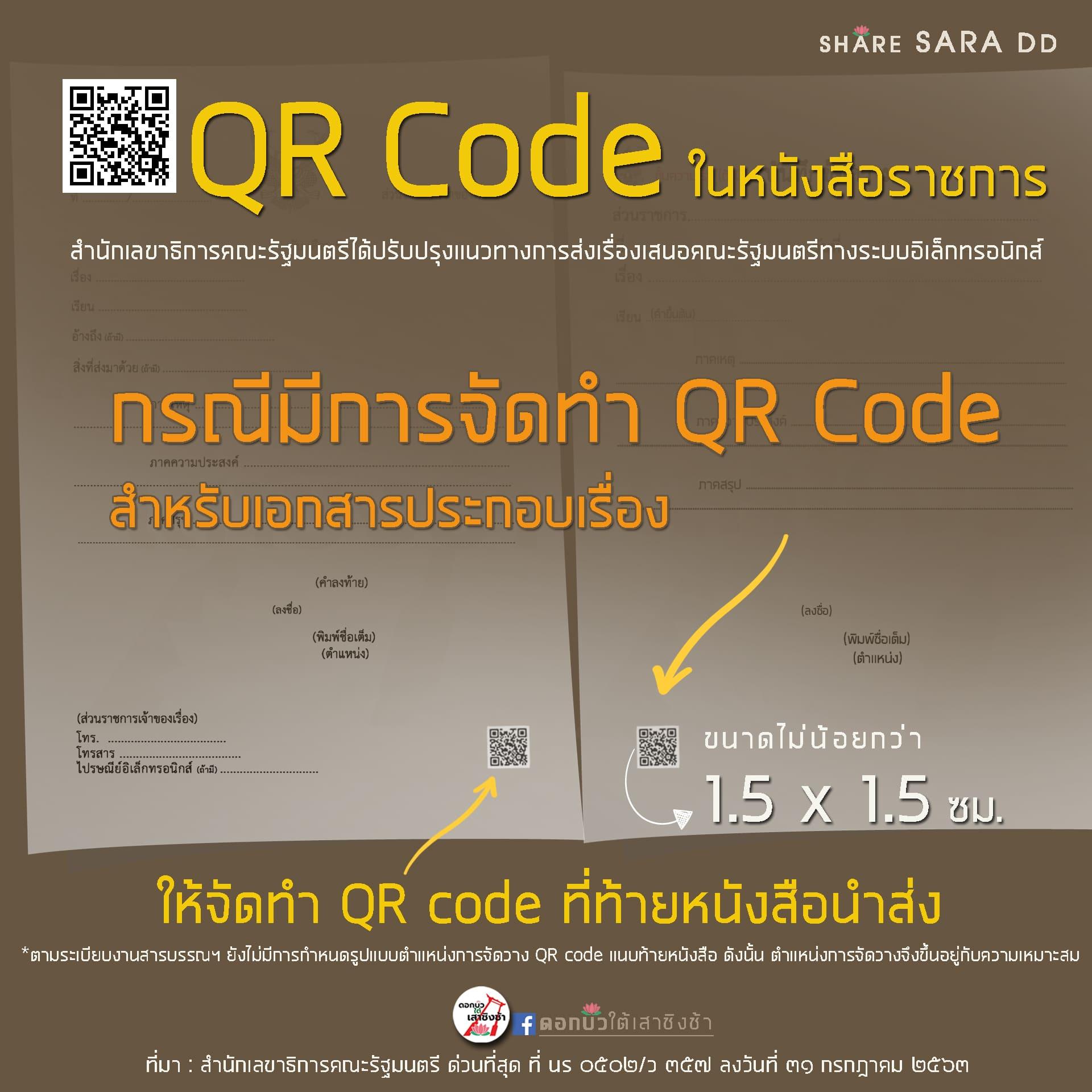 """""""QR Code"""" ในหนังสือราชการ"""
