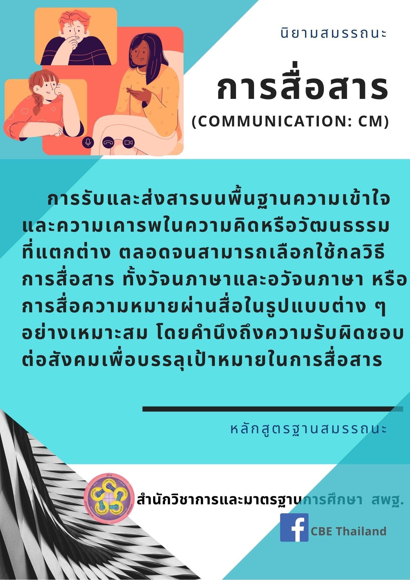 สมรรถนะการสื่อสาร (Communication : CM)