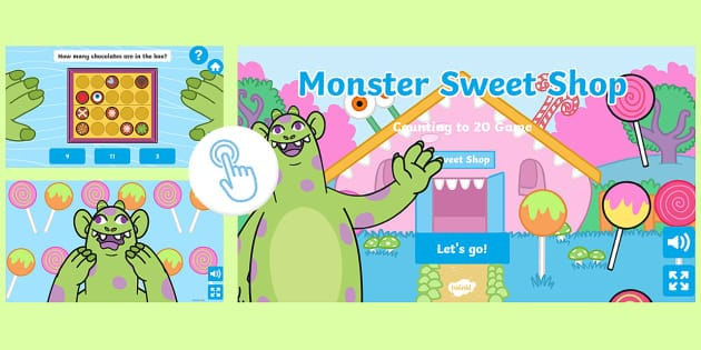 Monster Sweet Shop Counting to 20 Game