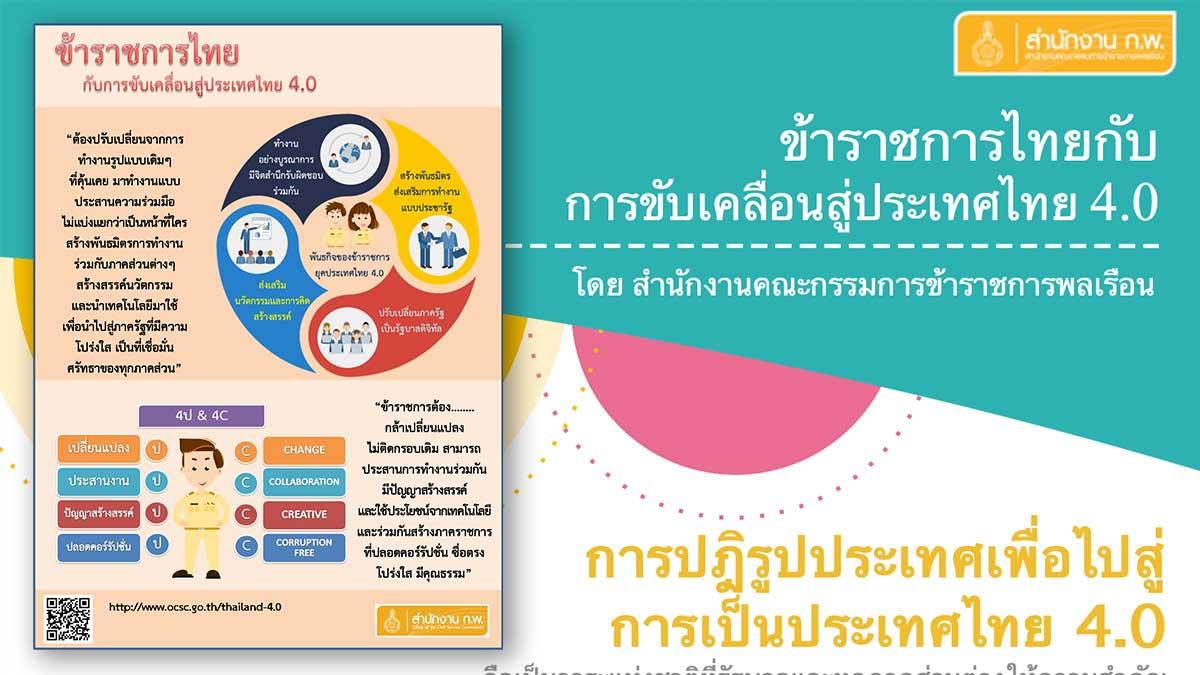 ข้าราชการไทยกับการขับคลื่อน สู่ประเทศไทย 4.0