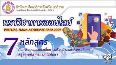 อบรมออนไลน์ฟรี 7 หลักสูตร นราวิชาการออนไลน์ Virtual Nara Academic Fair 2021 ระหว่างวันที่ 9 - 24 กันยายน 2564