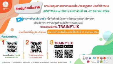 คุรุสภาเชิญรับชมย้อนหลัง การประชุมทางวิชาการออนไลน์ ของคุรุสภา ประจำปี 2564 (KSP Webinar 2021) รับเกียรติบัตร ผ่านเเอปพลิเคชัน TRAINFLI บัดนี้ถึงวันที่ 31 ธันวาคม 2564