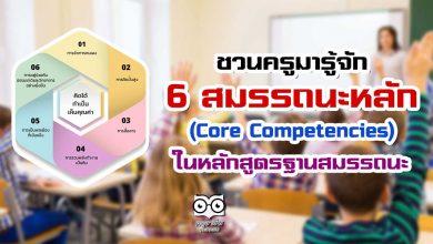 ทำความรู้จัก สมรรถนะหลัก (Core Competencies) 6 ด้าน ในหลักสูตรฐานสมรรถนะ